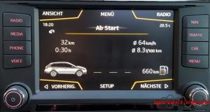 Infotainment-System Menü Fahrzeug