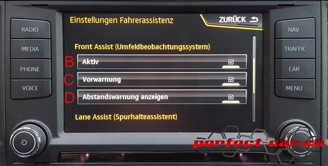 04 Front Assist - Ansicht Infotainment System