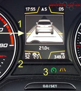 Automatische Distanzregelung ACC Anzeige im Bordcomputer